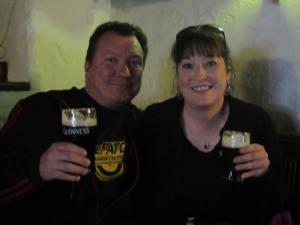Brian and Tara, Guinness at the bar