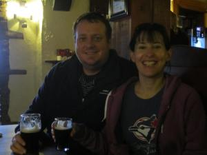 Connie and Al, Guinness at the bar