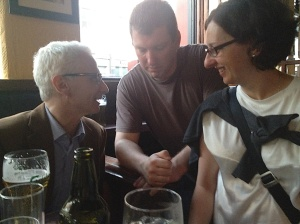 ...and shoot the breeze with Marek (who helped hone my Marie Curie grant proposal) and Ela's new husband, Ronan.