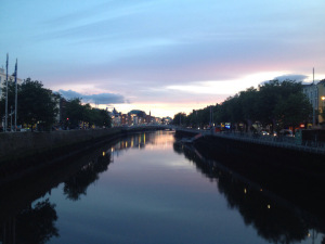 The Liffey sure is pretty at sunset.