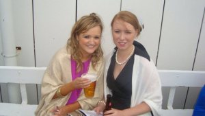 Myself and my friend at Galway Races 2011