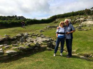 At Drombeg, Jan and Brian