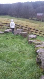 Jenni walks the stone circle