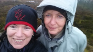 Ok, not glam but soaked to the skin & almost blown off the top of Corraweelis Cairn