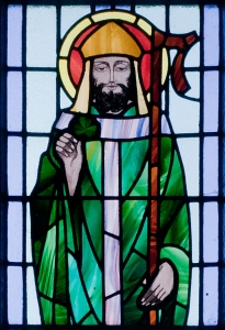 st Pat with shamrock